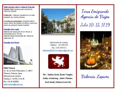 travel brochure assignment