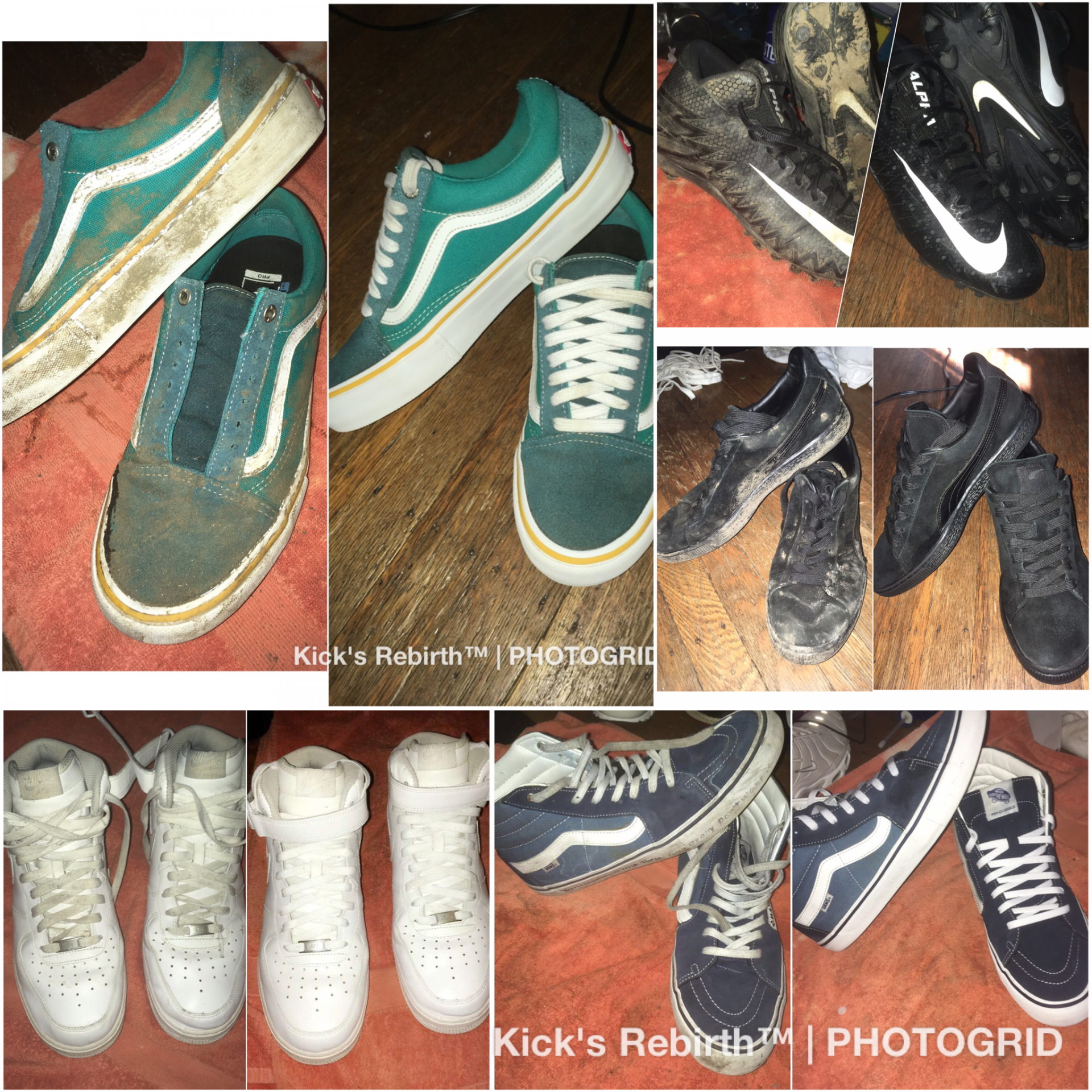 Examples of Kicks that have been reborn.